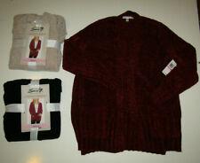 SEVEN Chenille Cardigan Sweater Rhubarb Red Taupe Tan Caviar Black S M L XL XXL