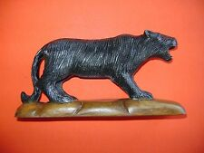 """Handcrafted Black PANTHER Imported from Indonesia Wood Carving 7"""" L. Free Ship"""