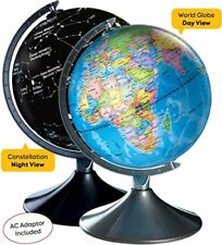 Interactive World Illuminated Globe For Kids - 2-In-1 Standing Political Earth S