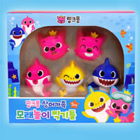 Pinkfong Shark Family Sand Play Making Shape Frame 5pcs, For Kids & Baby