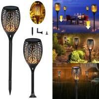 12 LED Solar Flamme Fackel Flackernde Landschaft Lampe Garten Wasserdichte Licht