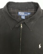 Vintage Polo Ralph Lauren Mens XL Harrington Jacket Black Zip Up Coat EUC!