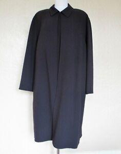 Anne Klein dress Suit 22W gray stretch wool knit sleeveless dress & coat set