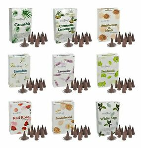 STAMFORD Incense Cones  -  Many Fragrance Incense Cones Scent Aromatherapy