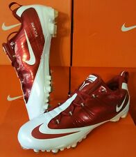 NEW Nike ZM Vapor Carbon Fly TD Football Cleats White/Red 396256 191 Sz 16 NEW