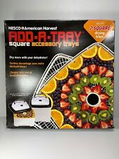 New Nesco SQT-2 Add-A-Tray for Square Dehydrators FD-80 and FD-80A Two Trays