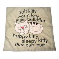 Cat Pillow Case Sofa Waist Throw Cushion Cover Home Decor New Gift F6