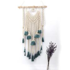 "45"" Macrame Woven Wall Hanging Tapestry Handmade BOHO Chic Craft Art Home Decor"