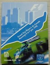 CANADIAN GRAND PRIX 1998 FORMULA ONE F1 Montreal OFFICIAL Programme