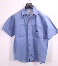 HB22 Wrangler Herren Jeans-Hemd blau Gr. M Denim Western Shirt
