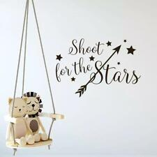 Shoot For The Stars Wall Decal – Vinyl Wall Sticker – Removable Wall Art for Hom