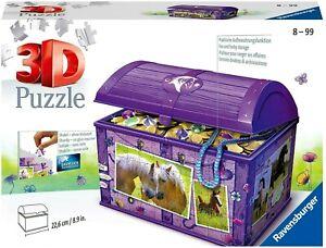 RAVENSBURGER. 3D PUZZLE. Treasure Chest Horses ITEM NR.11173. NEW