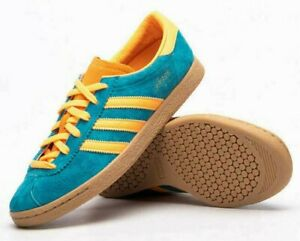 Size 9 - Adidas EF9168 Stadt Limited Edition Casual Shoe Teal/Orange