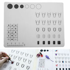 40x30cm Nail Art Print Silicon WorkSpace Stamping Plate Transfer Mat Sheet Table