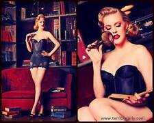 Vintage Subtract Black Bustier 34 C pinup clothing girl 1950's corset shapewear