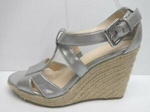 Calvin Klein Size 8 Pewter Wedges New Womens Shoes