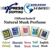 5 Scents Musk Jamid Natural Fragrance Solid Islamic Arabic Perfume None Alcohol