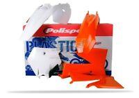 POLISPORT KIT PLASTICHE COMPLETE MX CROSS ARANCIONE BIANCO KTM 85 SX 2006-2012