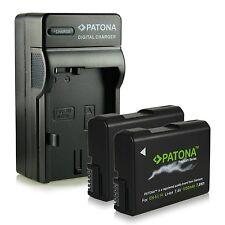 x2 batterie + carica per nikon coolpix P7000 P7100 P7700 P7800 EN-EL14 premium