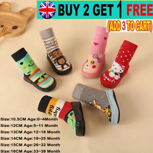Baby Boys Girls Toddler Slipper Socks Kids Anti-slip Floor Socks 0-39 Months