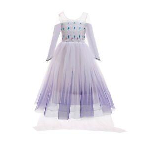 ELSA & ANNA® Girls Fancy Dress Snow Queen Princess Dress Halloween Costume E316