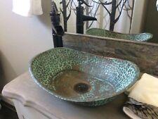 Oxidized Copper Vanity Vessel Bathroom Sink Toilet Oval Bathtub Design Lavatory