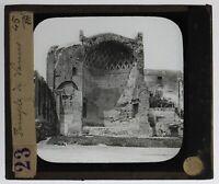 Italia Roma Tempio Venere Foto n19 Placca Da Proiezione Lanterna Magica