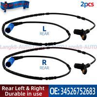 2pcs ABS Wheel Speed Sensor Rear SS20097 For BMW E46 Z4 323i 318i 34526752683