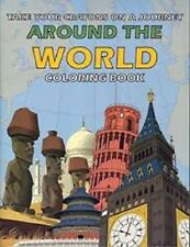 Around the World Magic Coloring Book Mind Reading Trick - Easy Mentalism - NEW