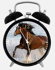 "Horse in Water Alarm Desk Clock 3.75"" Home or Office Decor Y38 Nice For Gift"