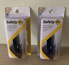 Set-2 Safety First Tv & Furniture Safety Straps 4 Mounting Options