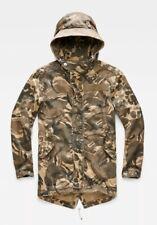 G-Star Raw Batt Hooded Short Loose Parka Camouflage Jacket Mens Size Medium BNWT