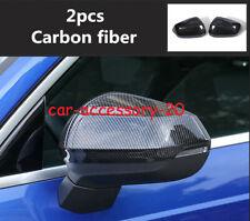 Carbon Fiber Side Door Rearview Mirror protect Cover Trim For Audi Q3 2019 2020