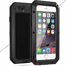 Aluminium Shockproof Heavy Duty Bumper Metal Cover Case F iPhone X 8 7 6s Plus 5 for iPhone 5s Black