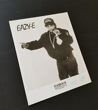 Eazy-E Original Promo Photo from Globe Poster Archive - 8x10 B&W Print - N.W.A.