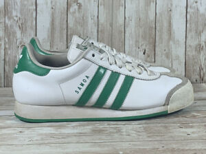 Adidas Samoa Classic Leather Casual Sneakers Green White G22597 Men's Size 9