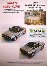 V097 LANCIA BETA COUPE RALLYE MONTE CARLO 1982 ANGELO CORIO DECALS VIRATE