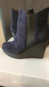 Calvin Klein Jean Seraphine Boots Indigo Colour  UK 6 Eu39 US9