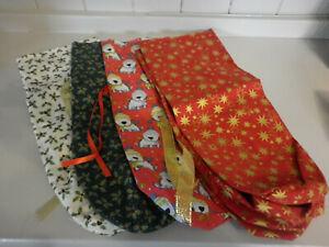 Christmas Fabric Bottle Bags Handmade