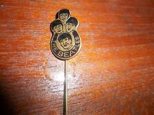 THE BEATLES ORIGINAL 1964 BADGE PIN BROOCH BLACK. DUTCH W.V. VELUW ZEIST AWESOME