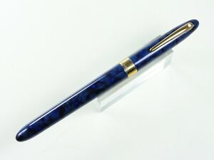 SHEAFFER CREST ROLLER BALL PEN IN ULTRAMARINE BLUE WITH GOLD ELECTROPLATE TRIM