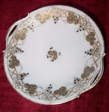 NIPPON HAND PAINTED GOLD GILDED SERVING PLATE