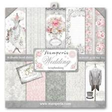 "NEW Stamperia 12"" x 12"" Paper Pad Wedding"