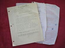ALDOUS HUXLEY - POINT COUNTER POINT - UNPRODUCED FILM OUTLINE MANUSCRIPT -