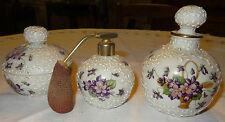 porcelaine limoges Montigny&Cie ensemble toilette aux violettes