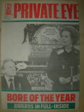 PRIVATE EYE MAGAZINE No 628 JANUARY 10 1986 MARGARET THATCHER BORE OF THE YEAR