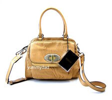 MIMCO ELEMENT DOC LEATHER SHOULDER BAG IN CAMEL BNWT RRP$379