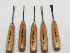 Ramelson Wood Carving Hand Chisel Set Kit 5pc Gunsmith Tools