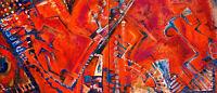 Leinwand Acryl Unikat Gemälde Bild Malerei Abstrakt Kunst Format XXL 50x100cm Ne