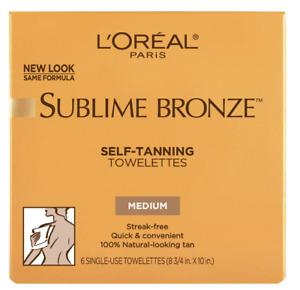 L'Oréal Paris Sublime Bronze Medium Self-Tanning Towelettes, 5 ct.